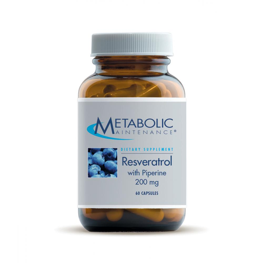 Resveratrol With Piperine 200 Mg Metabolic Maintenance